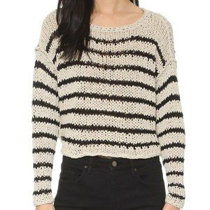 FREE PEOPLE Striped Over and Easy Sweater - S,M
